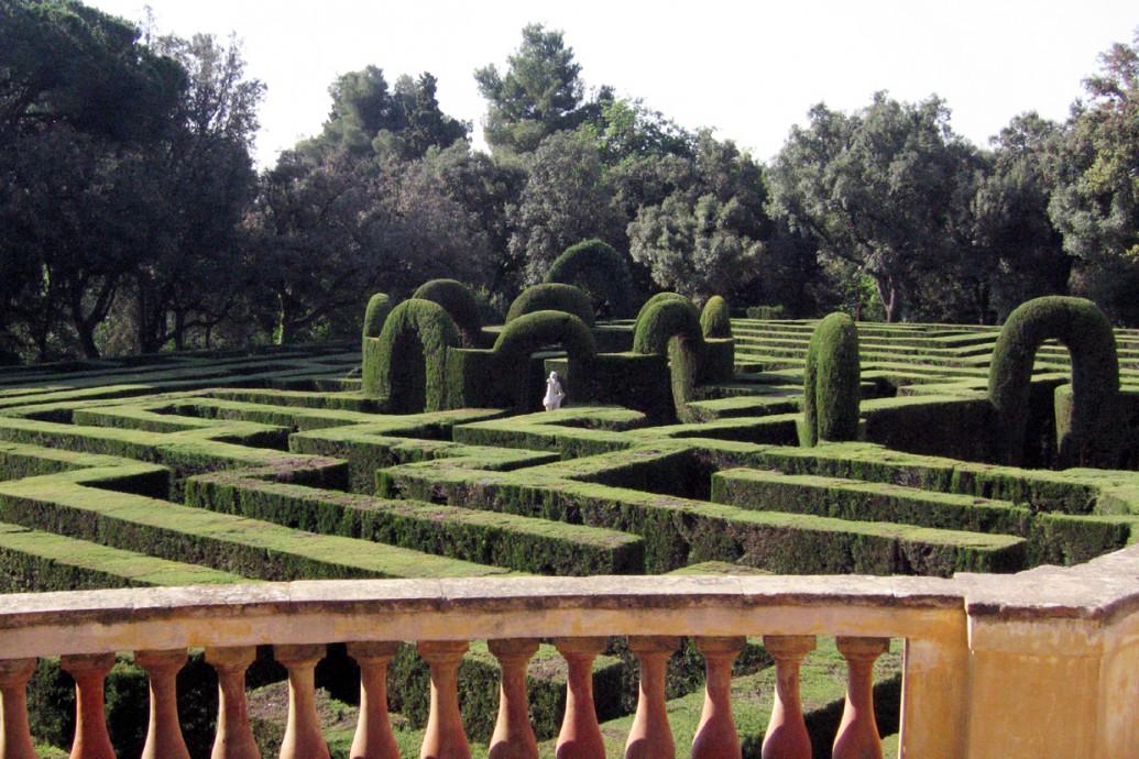 Das Labyrinth im Parc del Laberint d'Horta in Barcelona, Katalonien (Spanien), Foto Till F. Teenck